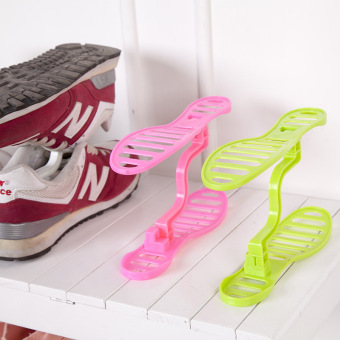 Harga New japanese style finishing shoe removable plastic shoe care/portable shoes storage rack finishing shoe tree