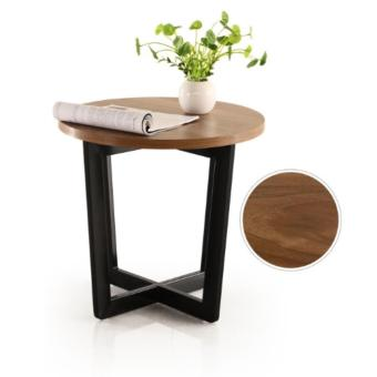 Harga Wooden Round Side Table (Brown)(Brown)