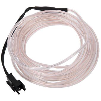 Harga 3M 3V Flexible LED Neon Light Glow EL Wire Strip (White) - intl