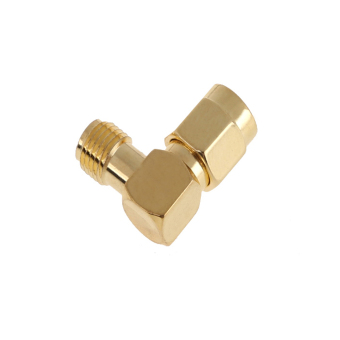 SMA Male to SMA Female Jack Plug Right Angle RF Adapter Connector