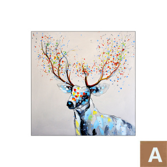 Harga Cloud single pair of deer modern minimalist scandinavian style restaurant decorative painting entrance paintings living room background wall