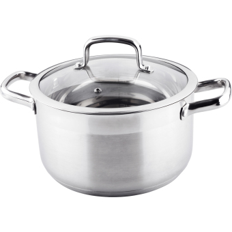 Harga LAMART Prestige Stainless Steel Pot with Lid - 16x9.5cm