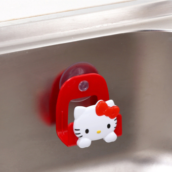 Harga Japan Hello Kitty Hello Kitty Dishes Drain Rack Sponge Holder Suction Cup Washing Cloth