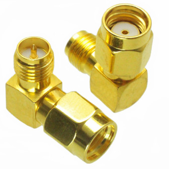 Harga RP-SMA Male to RP-SMA Female Adapter Right Angle RF Connector - intl