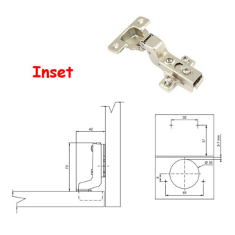 Harga Stainless Steel Soft Close Hydraulic Cabinet Hinges (Inset)