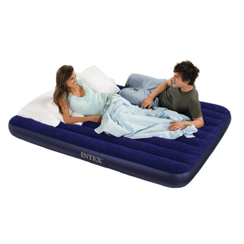 Intex Inflatable Downy Air Bed Mattress Downny Airbed Super Single w/ Pump