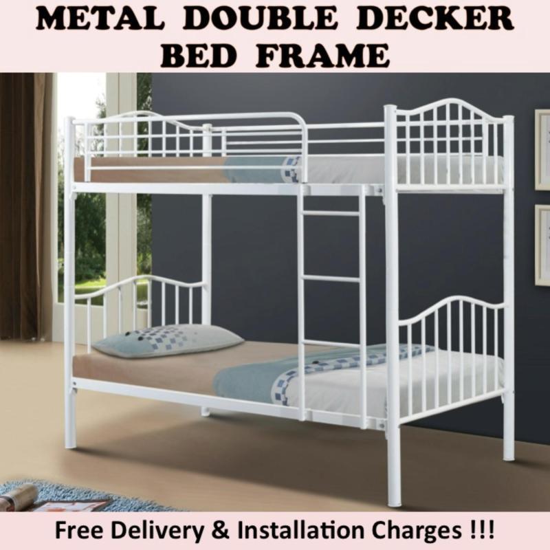 IRINA Double Decker Bed - White