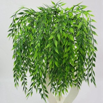 ISM Artificial Fake Green Persian Leaves Rattan Simulation Plant Home Decor intl