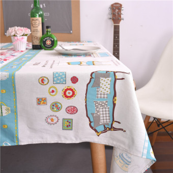 Japan and South Korea cotton hotel square cloth tablecloth