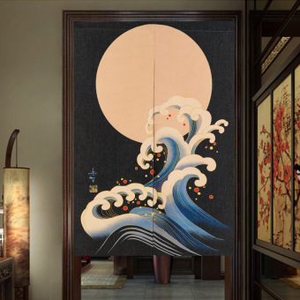 Japanese Style Library Bedroom Curtains Door Curtain