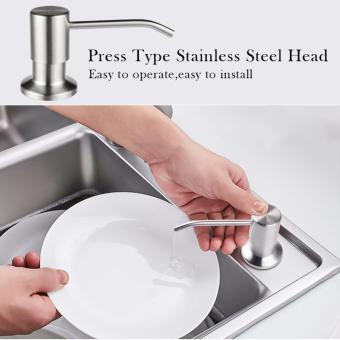 JOMOLA 350ml Kitchen Sink Liquid Soap Dispenser Stainless Steel Brushed Finish Head ABS Bottle-intl - 2