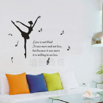 Jump Ballet Dance Beauty Living Room TV Background Music School Classroom Wall Stickers Bedroom Special H25