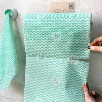 Ka non-woven cloth kitchen with paper cleaning towel brush bowl cloth disposable cloth