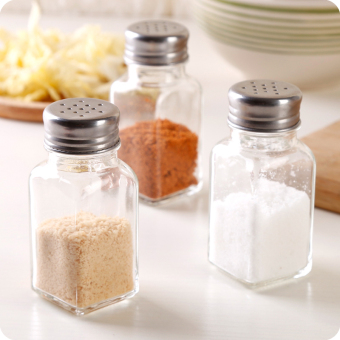 Kitchen glass cruet creative barbecue seasoning bottle seasoning cans pepper powder bottle salt chicken MSG seasoning cans