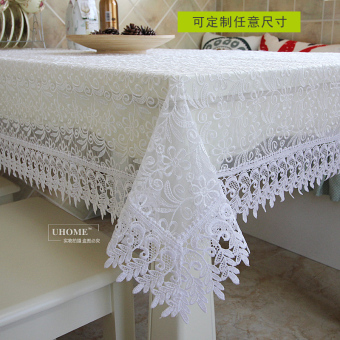 Lace rectangular coffee table tablecloth dining table cloth