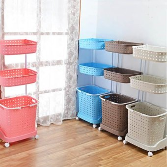 laundry basket with wheels 3 tier coffee