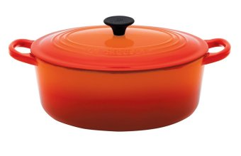 Le Creuset Cast Iron Oval French Oven 25cm, Classic (Flame)