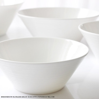 Lead-free bone china ceramic Japanese Korean white Instant Noodles bowl
