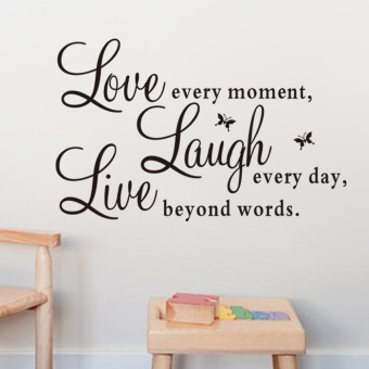 Harga Live Laugh Love Quote Removable Vinyl Decal Wall Sticker Home DecorArt Hot