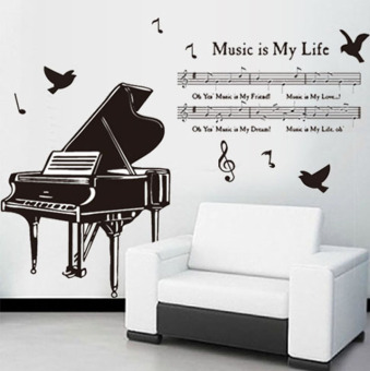 Living Room Music Notes Classroom Dance Training Background Sticker