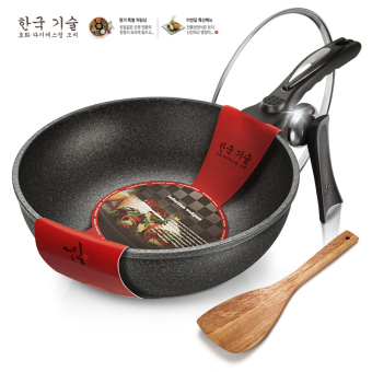 Love grid 30cm no fumes electromagnetic furnace gas Chao Shao non-stick pot