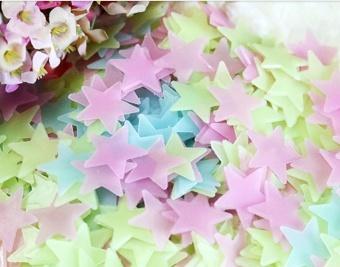 Luminous fluorescent stickers wallpaper 3D stars - intl - 4