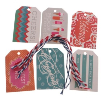 MagiDeal 24 Pieces Christmas Style Paper Hang Tags Party Favor Label Gift Name Cards - intl