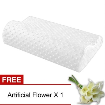 MEGA Slow Rebound Memory Foam Pillow (White) [Buy 1 Get Freebie] -intl