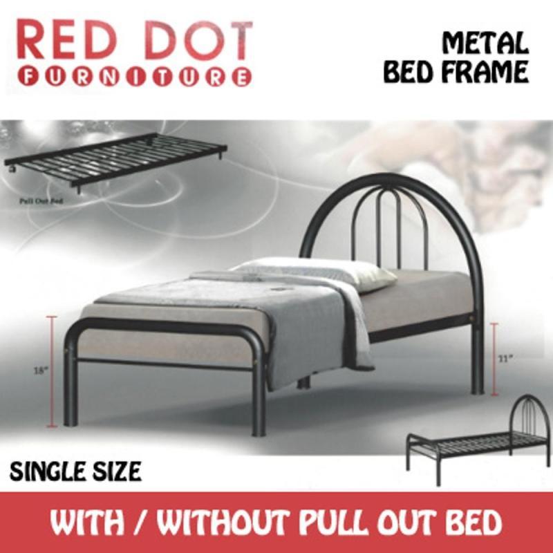 Metal Bed Frame Single (Black)