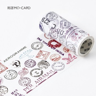 Mo Retro And Paper Tape Leonardo Da Vinci Notes Hand Account Diary Album Diy Decorative Material 10Cm Wide