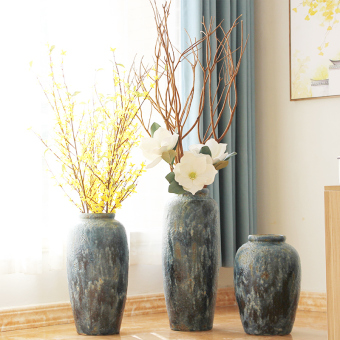 Modern European living room hotel Villa large vase floor vase
