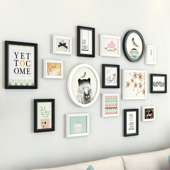Modern indie wall frame wall photo wall