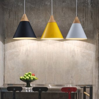 Modern wood pendant lights lamparas colorful aluminum lamp shade modern wood pendant lights lamparas colorful aluminum lamp shade luminaire dining room lights pendant lamp for mozeypictures Images