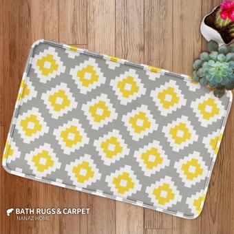 Nanaz Home Cool Yellow Geometric Nordic Minimalist Modern Carpet Living Room Coffee Table Mats Bed
