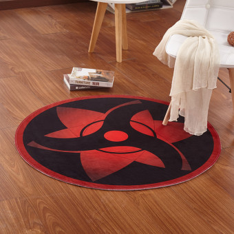 Naruto ninja round living room bedroom cushion carpet