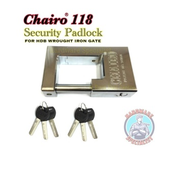 [New] Chairo 118 Security Metal Padlock [For Both New/Old BTO]