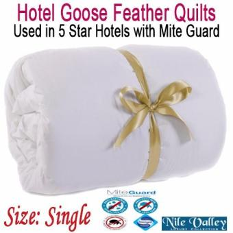 Nile Valley's high quality 5 star hotel feather quilts. With Mite Guard.