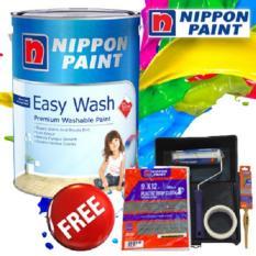 NIPPON PAINT EASY WASH WITH TEFLON 5L (BARLEY WHITE) Singapore