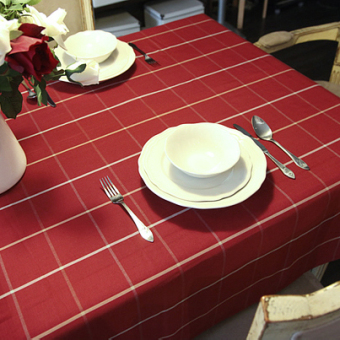 Nordic Modern Festive Red Plaid Tablecloth Cotton Fabric Hotel Coffee Table  Cloth Tablecloth Table Cloth European