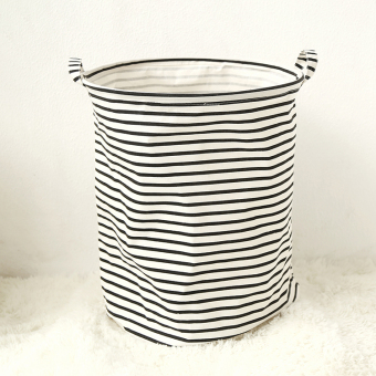 Normal life ins nordic cotton fabric storage bag simple english letters storage laundry bucket toy storage