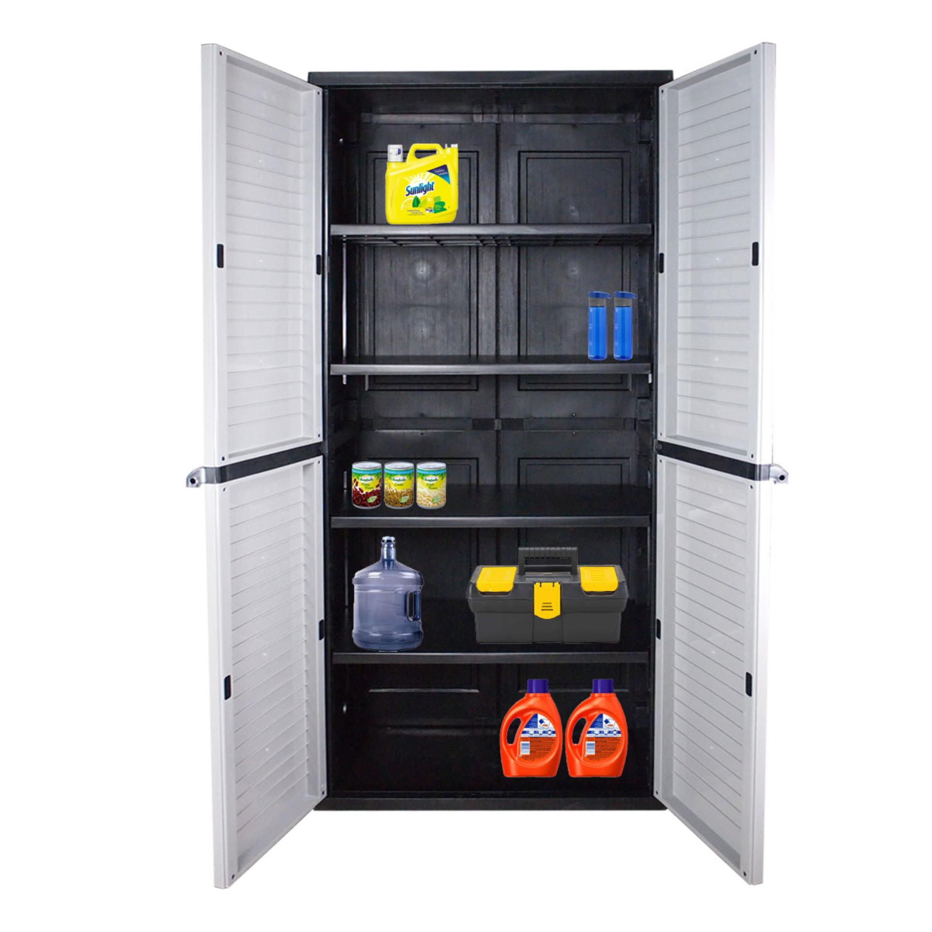 Optimus Large Storage Cabinet Grey
