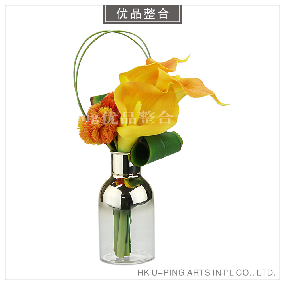 Singapore Orange Simulation Flower Horseshoe Lotus Decorative