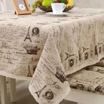 Pastoral cotton linen computer tablecloth rectangular tablecloth