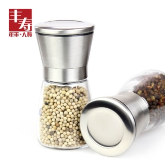 Pepper grinder manual black pepper grinding seasoning box glass seasoning bottles kitchen supplies home