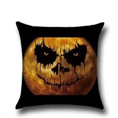 Perfectworld Practical High-quality Hot Sell Halloween Ghost Printed Sofa Bed Car Home Decor Throw Pillow Cushion Case Cover 2 - intl