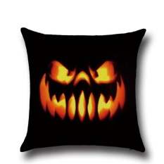 Perfectworld Practical High-quality Hot Sell Halloween Ghost Printed Sofa Bed Car Home Decor Throw Pillow Cushion Case Cover 3 - intl