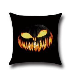 Perfectworld Practical High-quality Hot Sell Halloween Ghost Printed Sofa Bed Car Home Decor Throw Pillow Cushion Case Cover 6 - intl