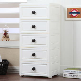 Plastic large European drawer storage cabinets