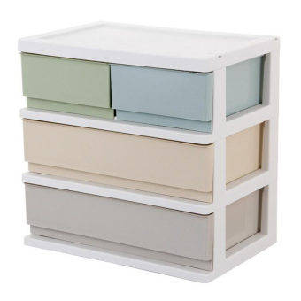 Plastic leefuu storage box drawer storage cabinets