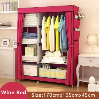 Harga POPHEKO Bedroom Portable Wardrobe